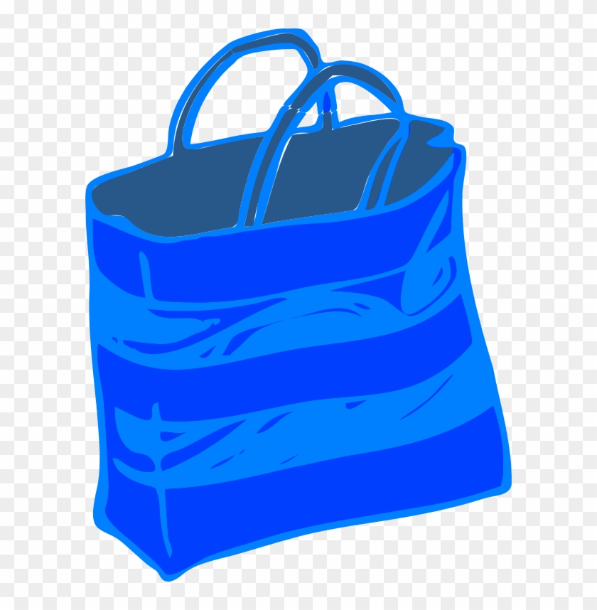 Shopping Bag Vector Clip Art - Clip Art Bag Blue #263664
