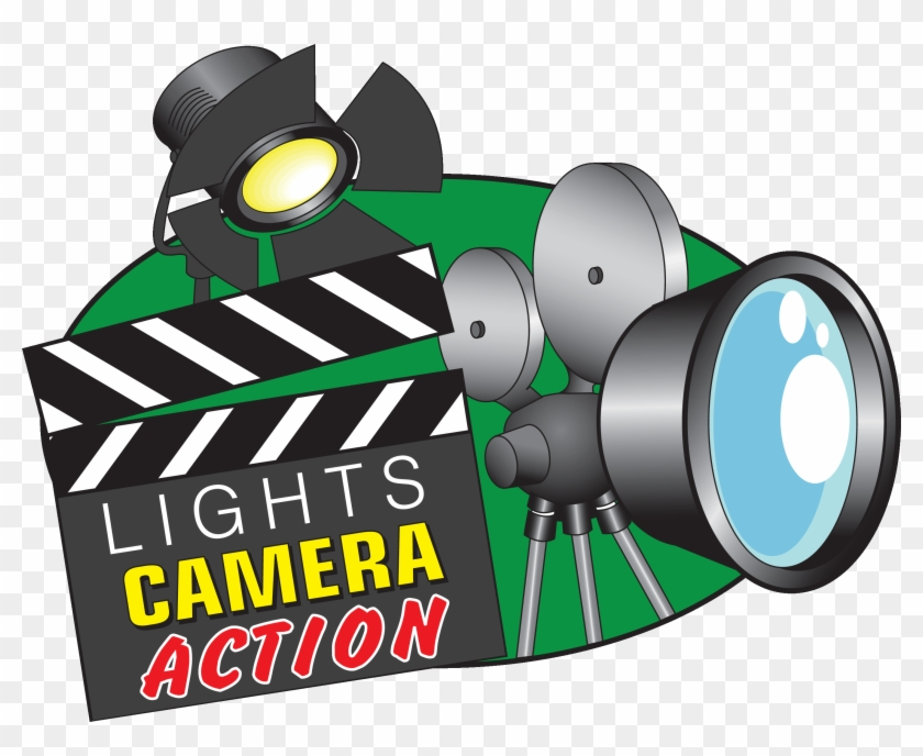 Movie Lights Clipart - Lights Camera Action Giff #263700