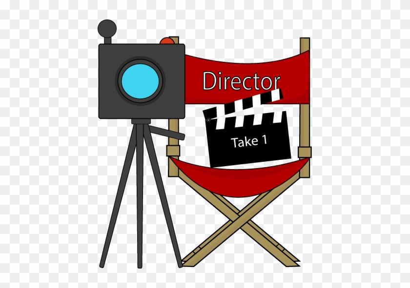 Free Movie Clipart - Directors Chair Clip Art #263752