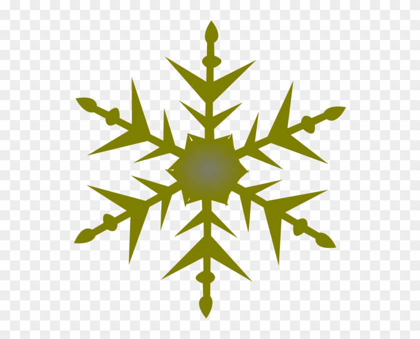 Solid Snowflake Clipart - Gold Snow Flake Clipart #263916