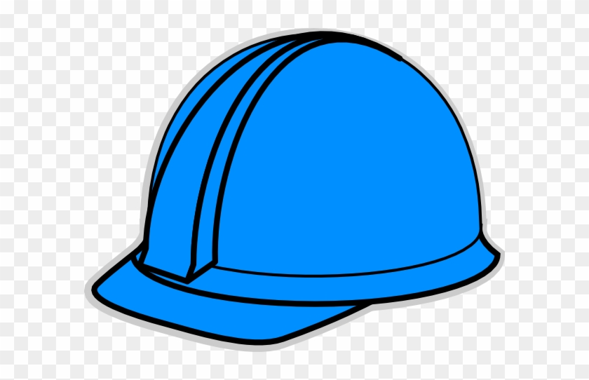 Free Blue Hat Cliparts, Download Free Clip Art, Free - Cartoon Blue Hard Hat #263992