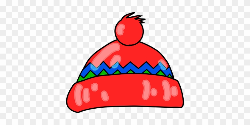 Hat, Tabogan, Warm, Winter, Knit, Snow - Winter Hat Clip Art #264074