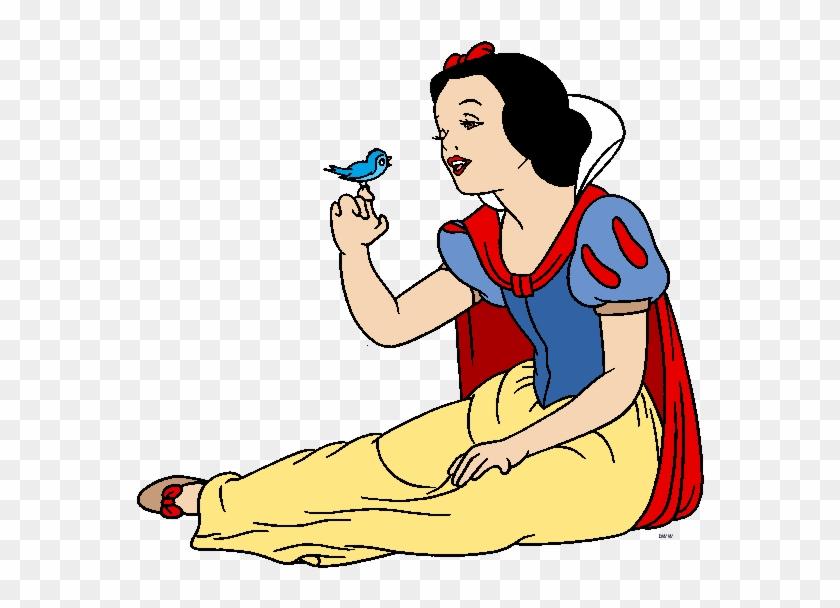 Snow White And The Seven Dwarfs Wallpaper Containing Disney Snow White With Bird