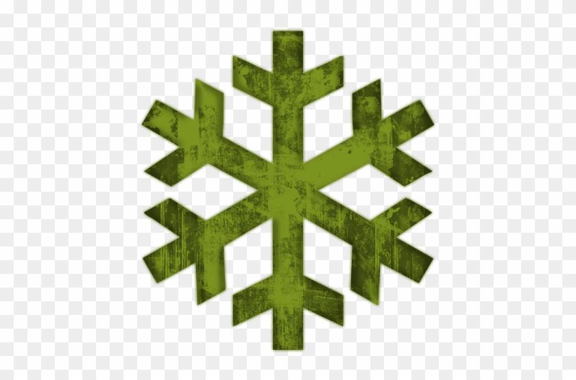 Green Snowflakes Clipart Freezer Snowflake Symbol Mean Free