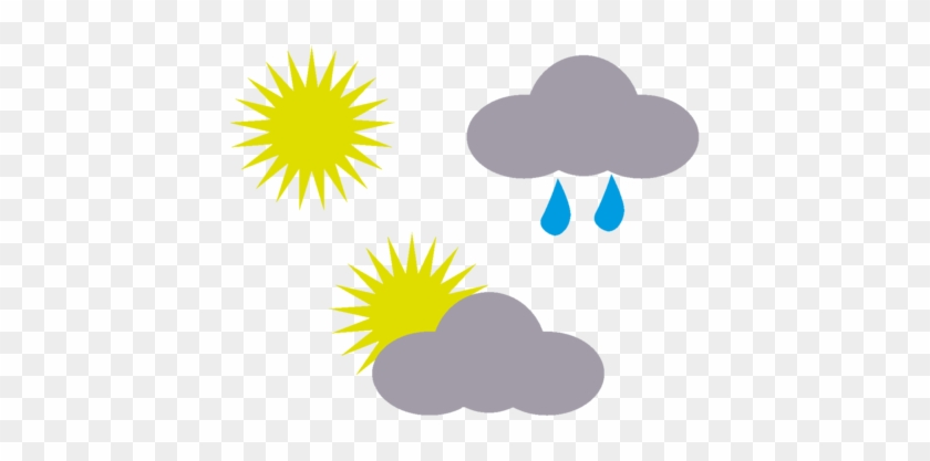 Storm Brings Rain Flooding Wind Mountain Snow Weather Symbols