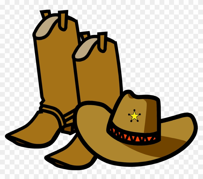 b614039f5842f Go Western Boots Clipart Cliparthut Free Clipart - Cowboy Hat And Boots