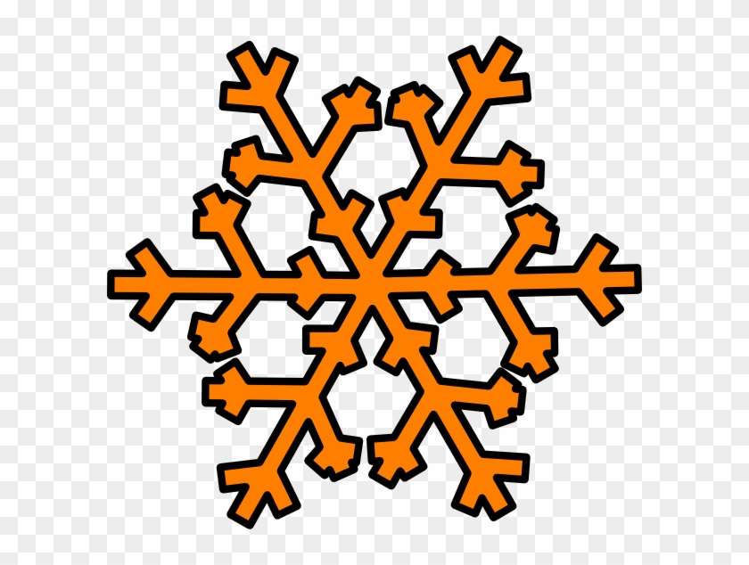 Orange Snowflake Clip Art - Orange Snowflake Clipart #264319