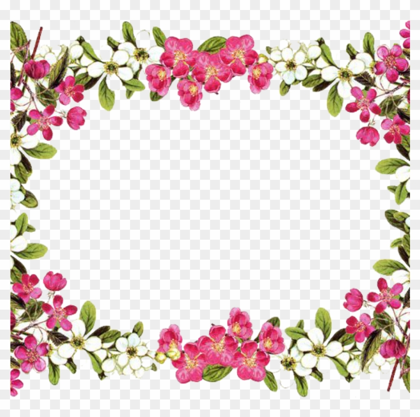 Flower Border Clipart Download Flowers Borders Free - Floral Borders And Frames #264450