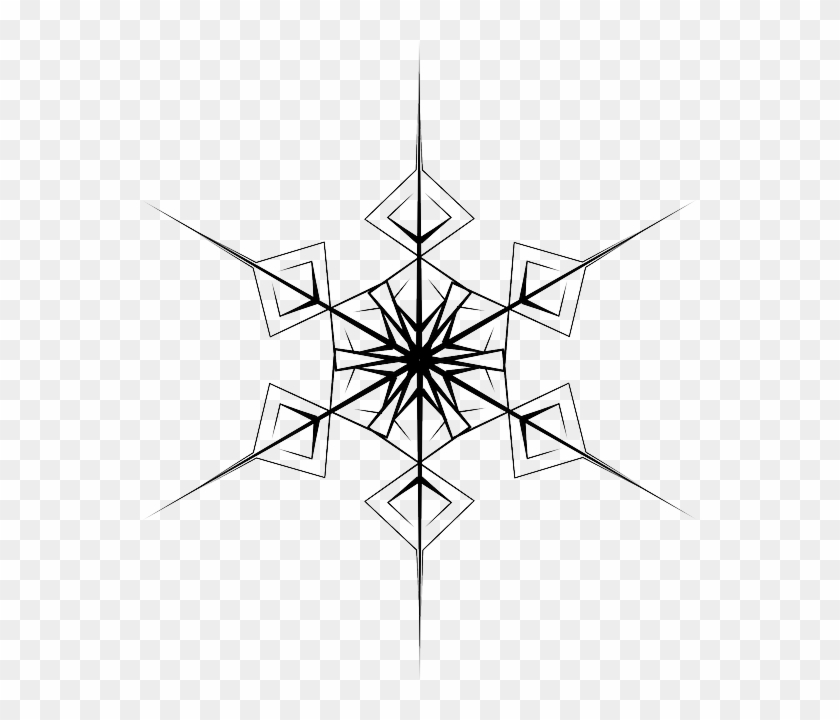 Crystal, Hexagonal, Snowflake, Symmetry - Snowflake #264470