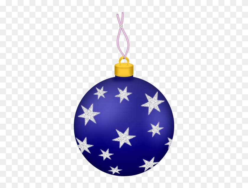 Transparent Blue Christmas Ball With Stars Ornament - Christmas Ball Ornaments Transparent #264478