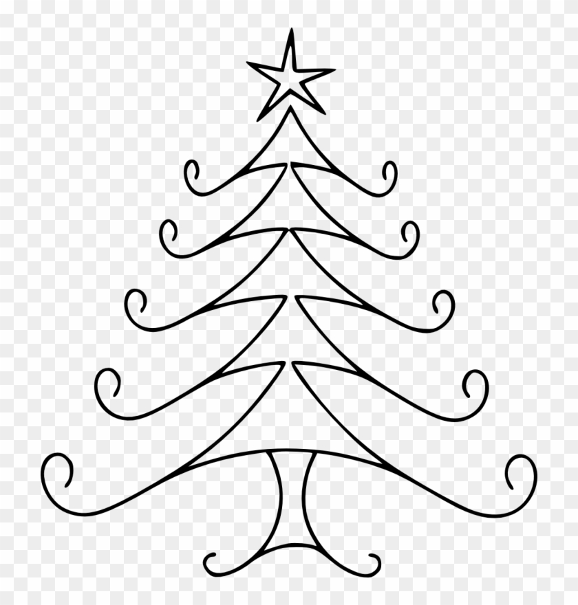 Pin Christmas Tree Clipart Black And White Easy To Draw Christmas