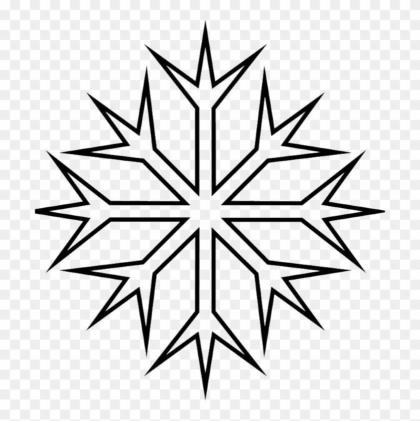 Snowflakes Ranging Sharp Coloring Pages - Snowflake Clipart #264498