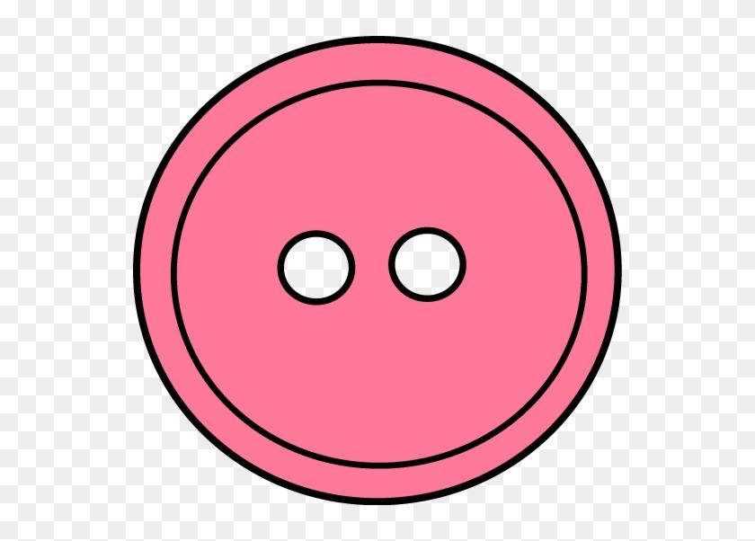 Pink Button Clip Art - Sewing Button Clip Art #264581