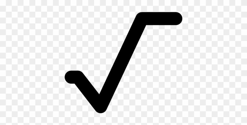 Square Root Mathematical Symbol Vector Square Root Symbol Png