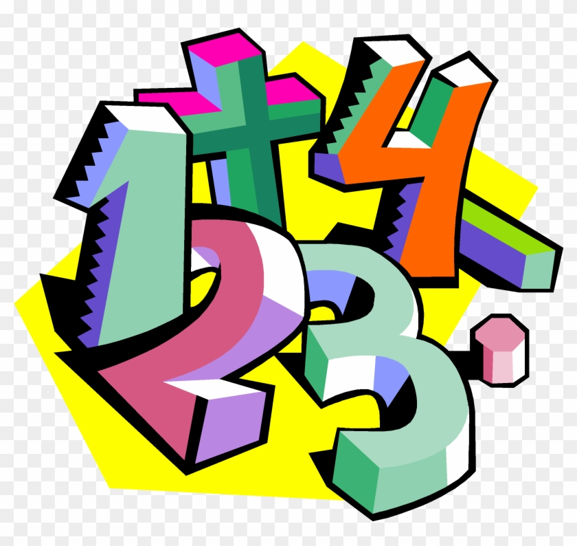 Number In The Middle And Had Other Numbers To Times - Math Numbers Clipart #265083