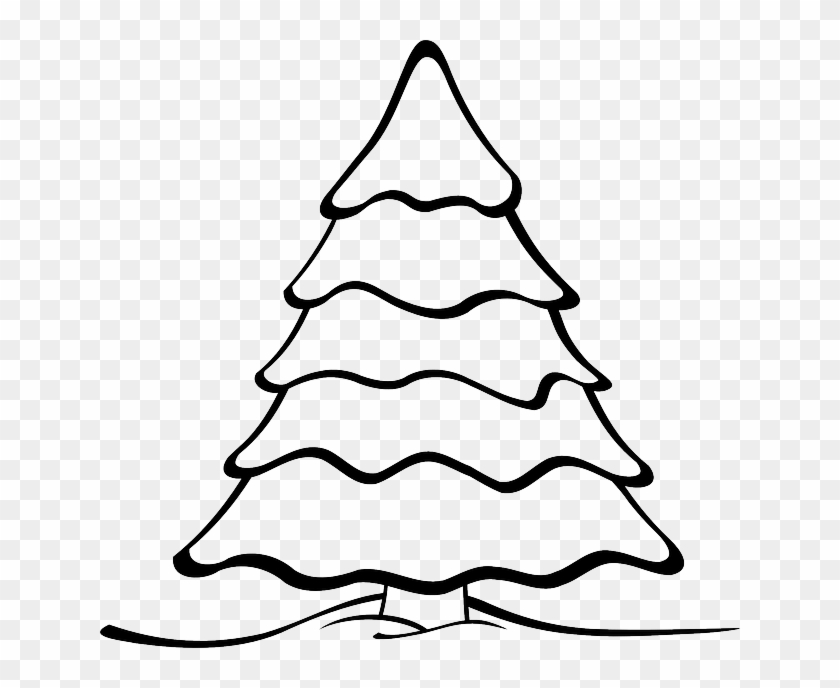 Free Vector Graphic Tree Forest Nature Landscape - Christmas Tree Black And White Clipart #1735035