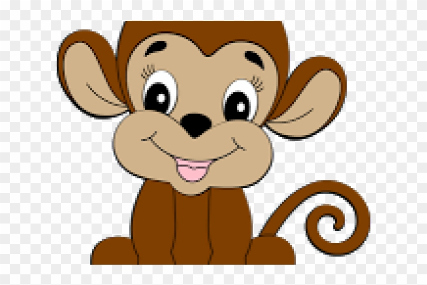 Related Cliparts - Baby Cute Monkey Clipart #1735641