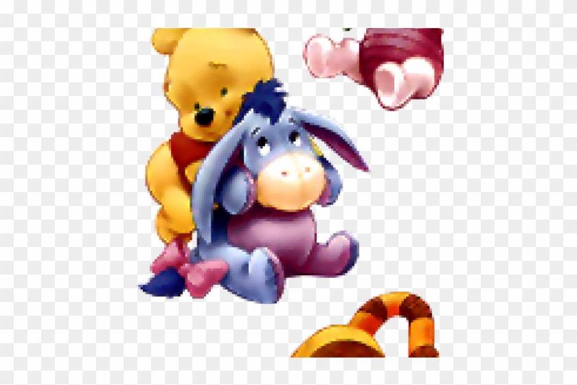 Baby Pooh Hugging Eeyore #1735689