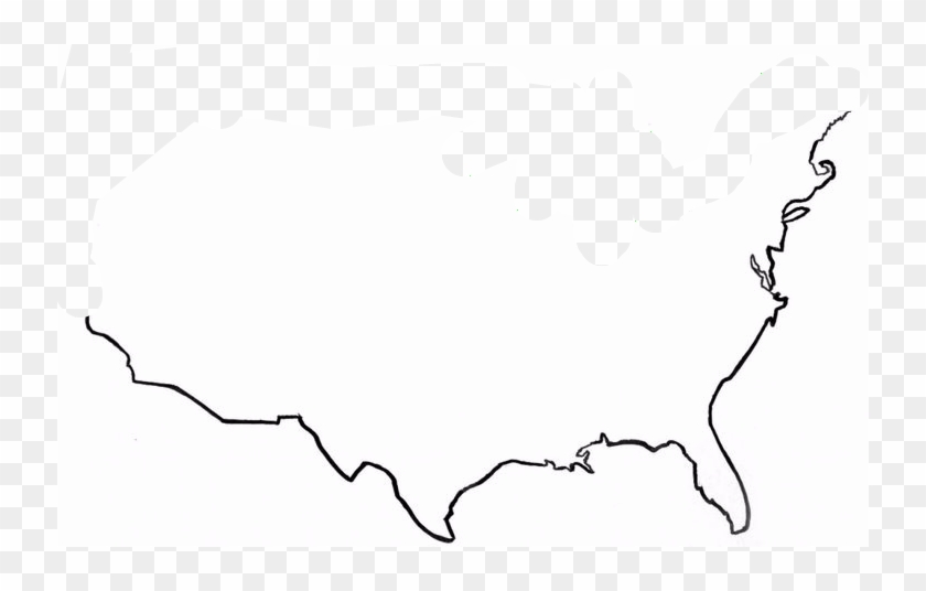 United States Map Outline - Us Map Outline Clipart - Free ...