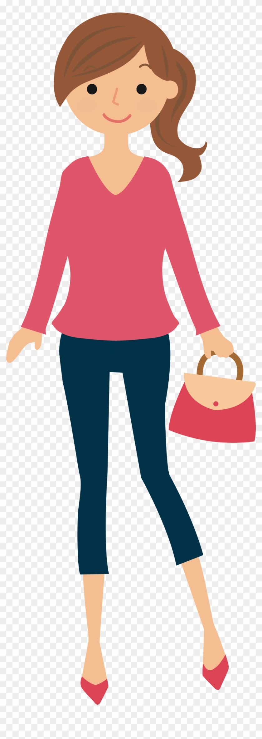 Big Image - Woman Shopping Icon Png #1739817