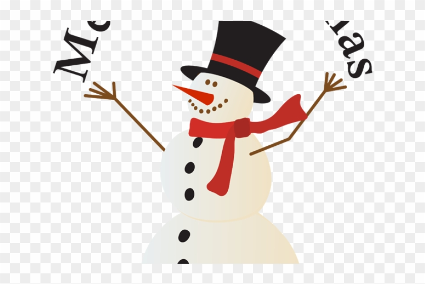 Merry Christmas Clip Art - Snowman Merry Christmas Clip Art #1740930