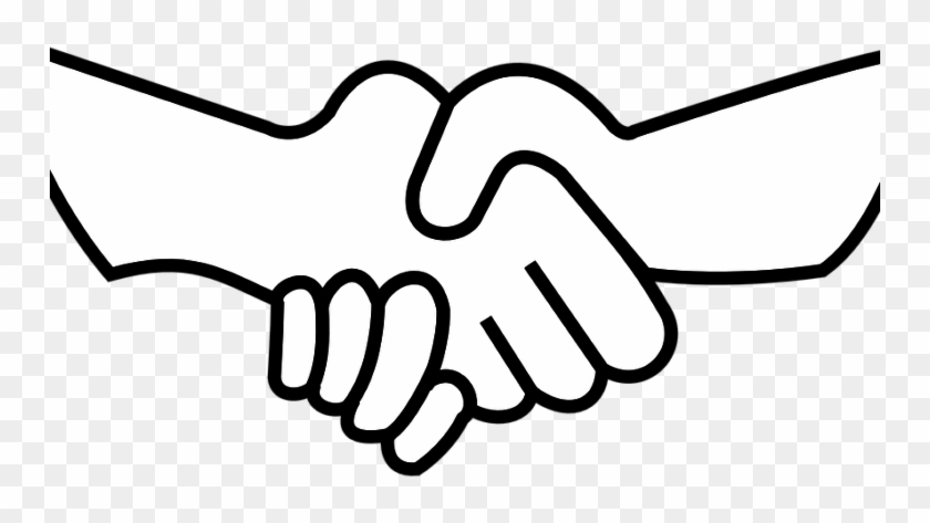 Shaking Hands Drawing Easy #1741349