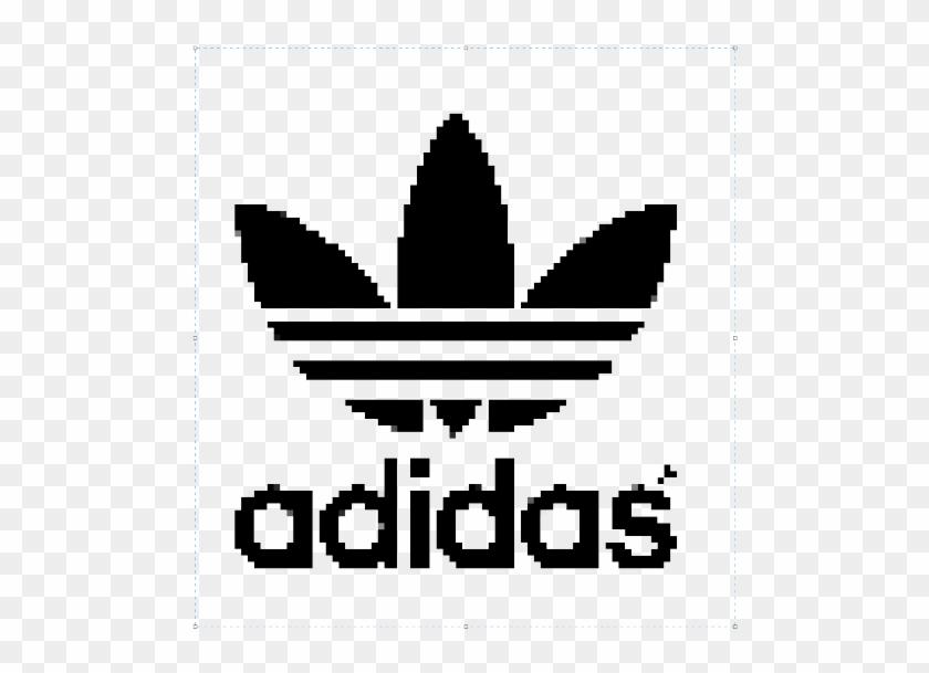 Skate Gaming Adidas Fashion Weird White Black Edit Pixel Art Adidas Logo Free Transparent Png Clipart Images Download