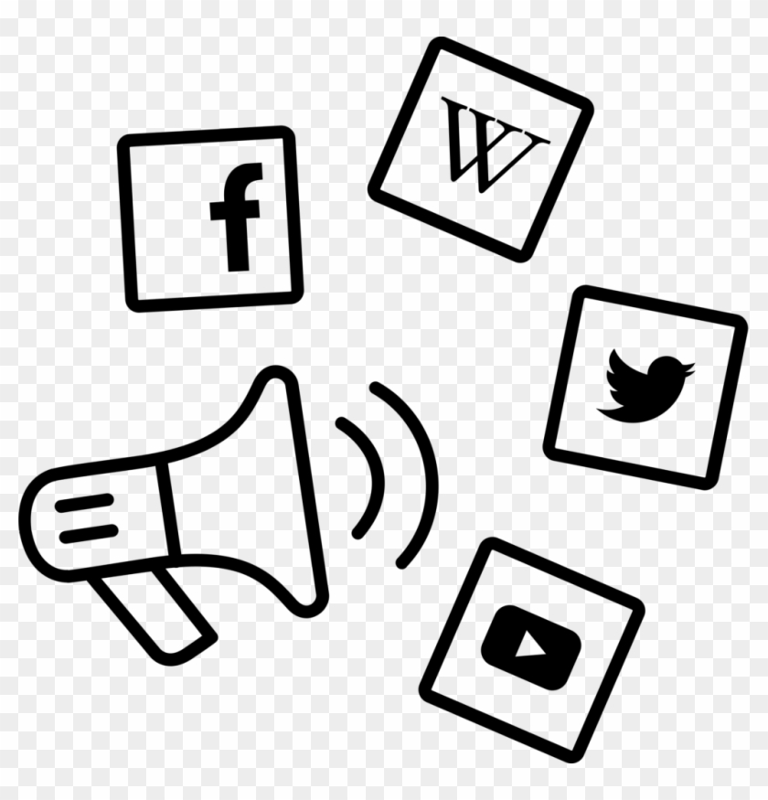 These Companies - Social Media Marketing Icon Black #1744717