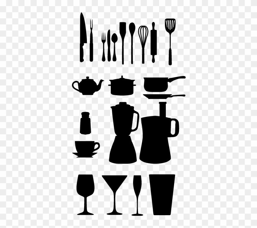 Kitchen Utensils Silhouette Vector Free Chef Chef Yhome - Kitchen Vector #1747215