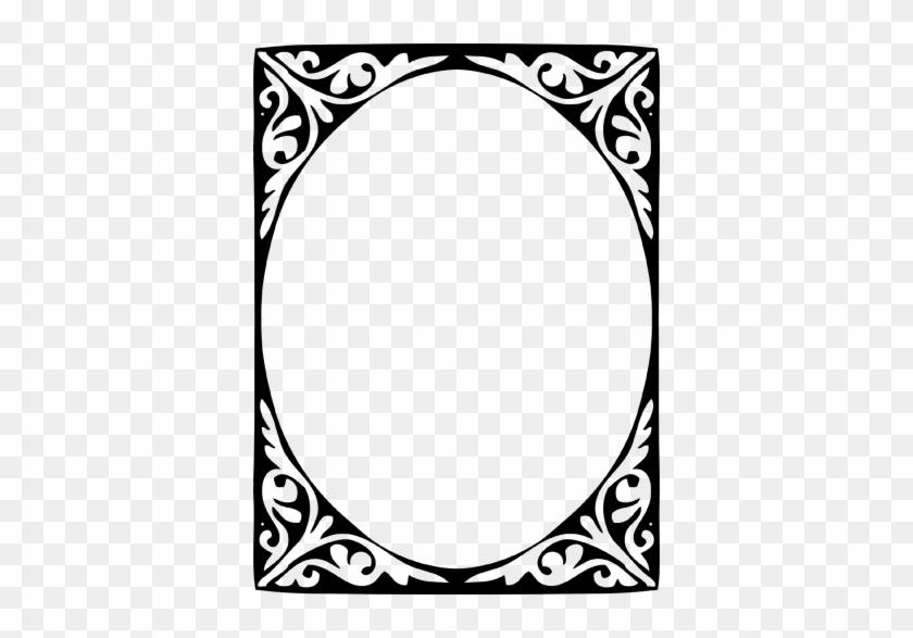 Modernist Elliptical Frame Wall Sticker - Circle #1747536