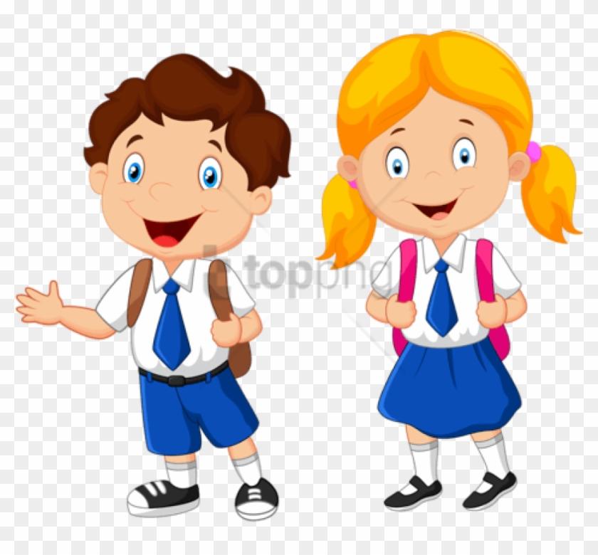 Free Png Download School Kids Clip Art Png Png Images - School Children Clipart #1747779