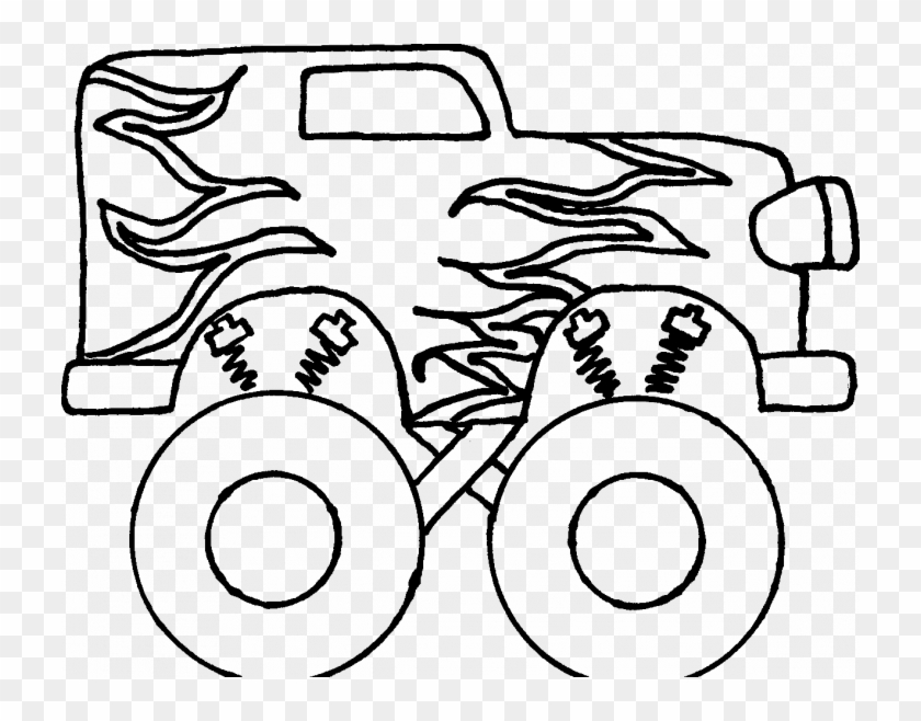 Truck Coloring Page Easy Easy Steps To Draw A Monster Truck Free Transparent Png Clipart Images Download