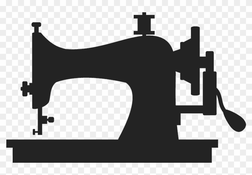 Old School Stamp Stamps Stamptopia Oldschool Ⓒ - Sewing Machine Black And White Png #1752123