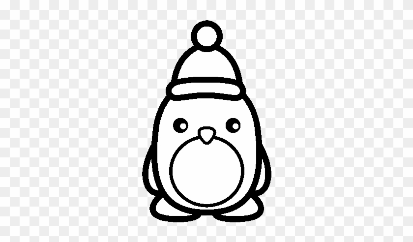 picture relating to Penguins Printable referred to as Penguin Printable Coloring Internet pages Xmas Penguin - Youngster