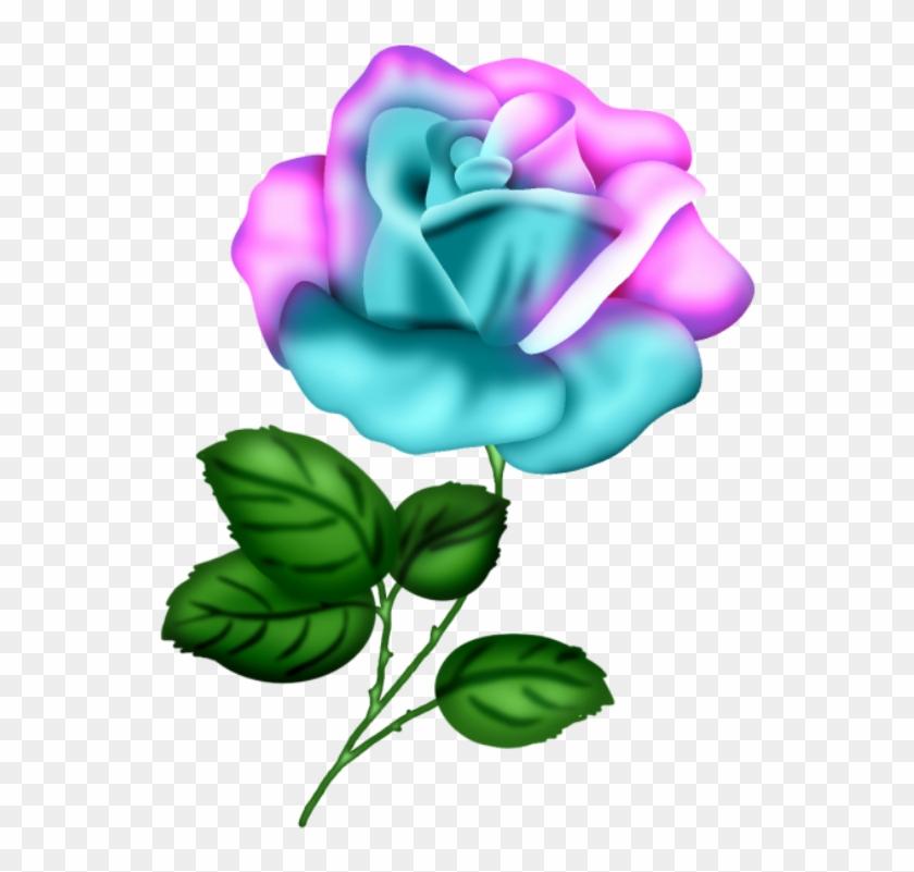 Roses,pink,roze,rosa, Decoupage, Clipart Design, Rose - Fleur Feuille  Dessin Couleur - Free Transparent PNG Clipart Images Download