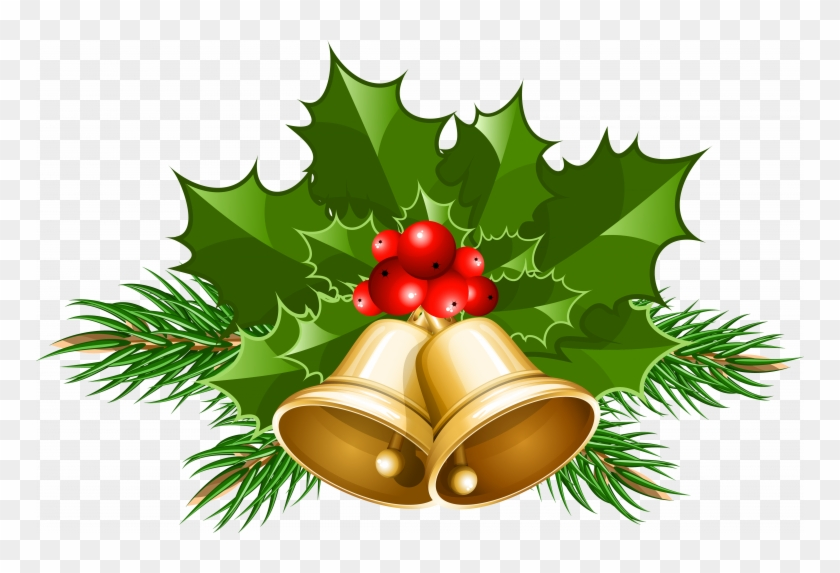 Download Free Clip Art Christmas - Christmas Bells Clipart Png #1753060