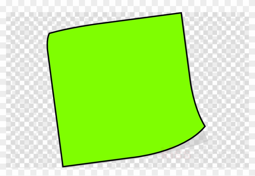 Sticky Note Clip Art Clipart Post-it Note Paper Clip - Green Post It Note #1753145
