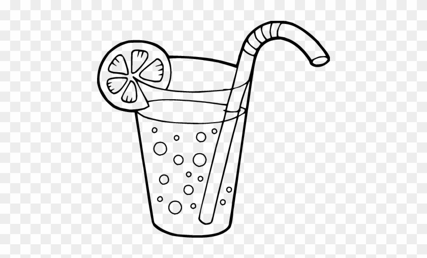 Soda Bottle Coloring Pages - Glass Of Juice Coloring Page #1753205