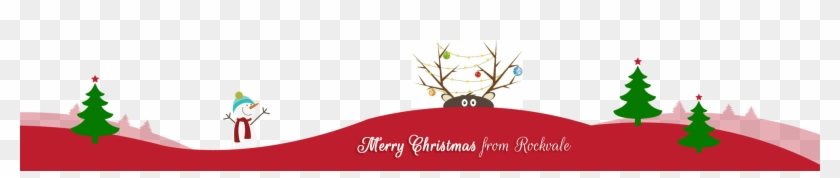 Merry Christmas Text Clipart Footer - Merry Christmas And Happy New Year Footer #1753737