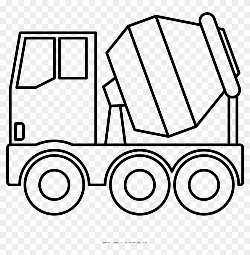 Concrete Mixer Truck Coloring Page Camion Hormigonera Dibujo Free Transparent Png Clipart Images Download