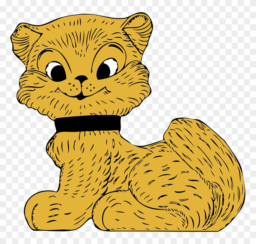 Animals, Cat, Cartoon, Mammals, Kitten, Smiling, Pet - Custom Cartoon Cat Shower Curtain #265193