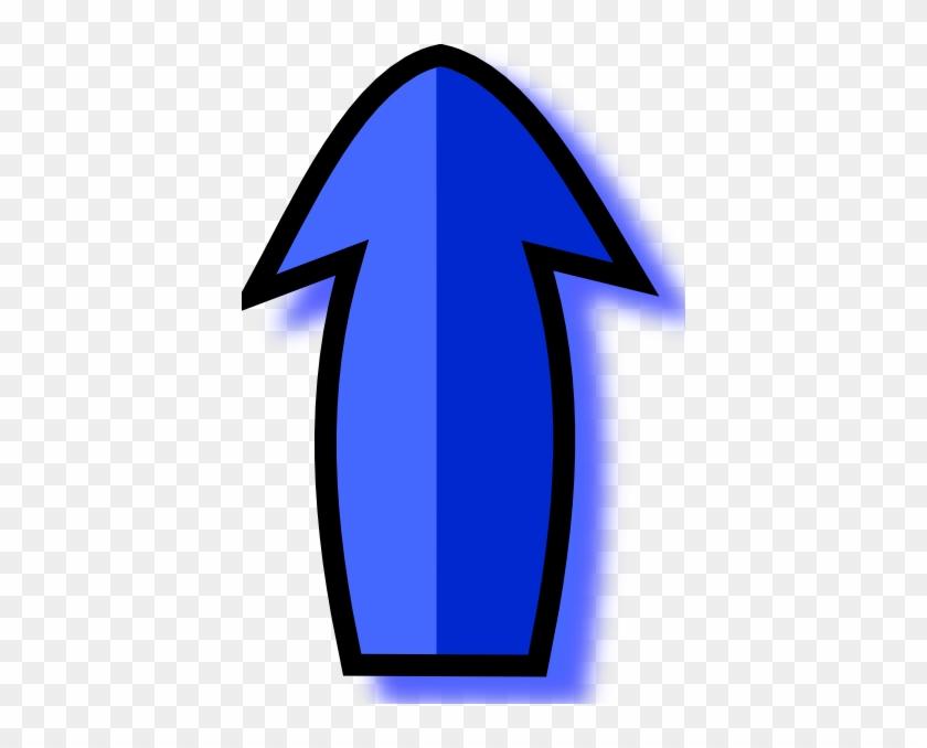 Free Vector Blue Arrow Clip Art - Animated Arrow Pointing Up #265234