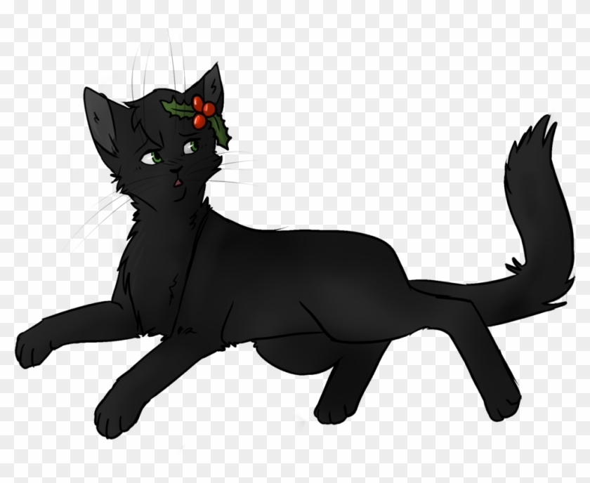 Black Cat Clipart Warrior Cat Draw Hollyleaf From Warriors Free