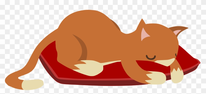 Medium Image - Sleeping Cat Clipart Png #265374
