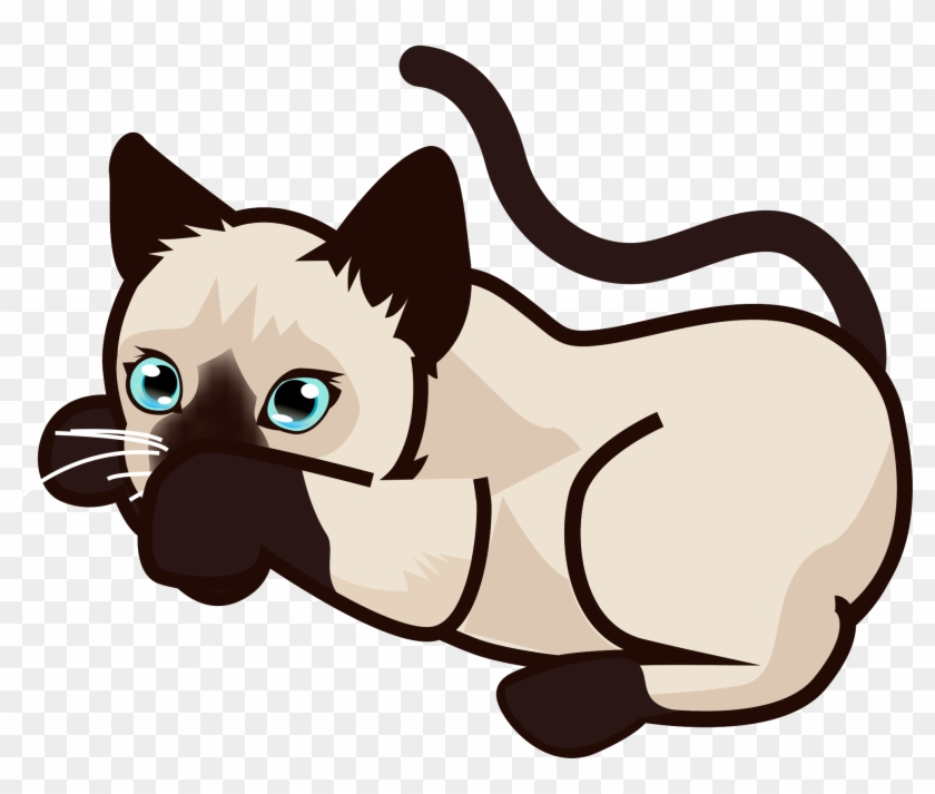 Open - Siamese Cat Clipart #265399