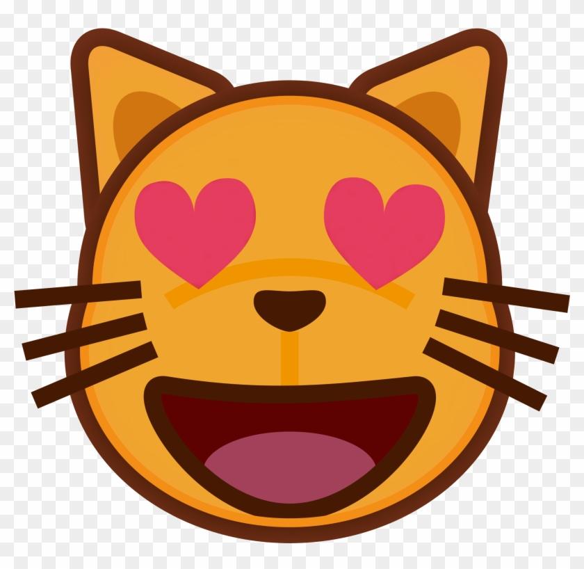 Cat Love Emocon - Cat Heart Eye Emoji #265469