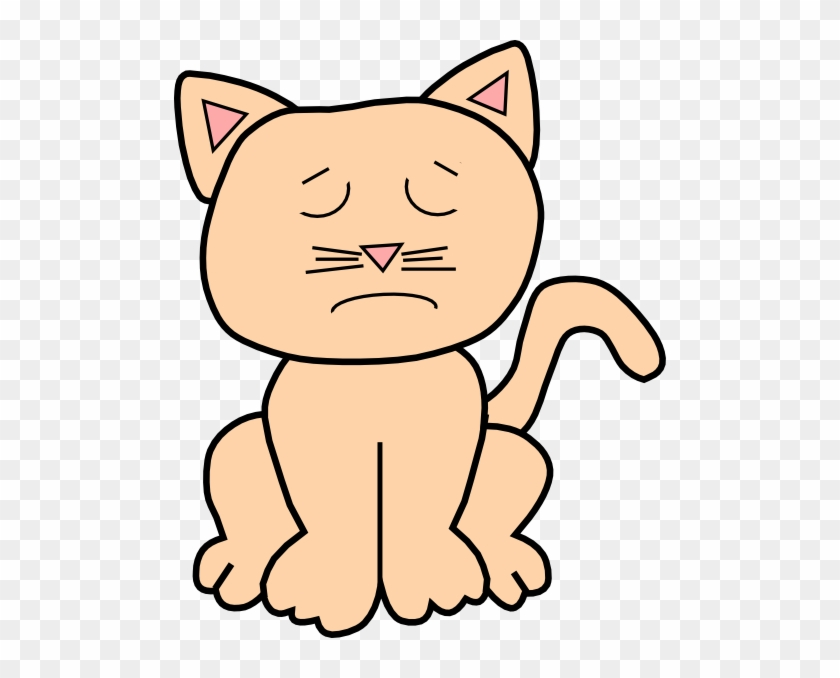 Sad Clip Art Cat #265507