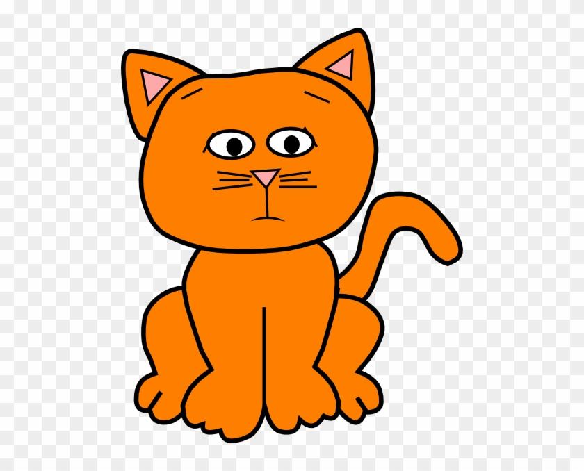 Orange Worried 3 Clip Art At Clker - Sad Clip Art Cat #265519