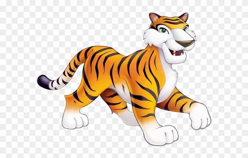 Tiger Cartoon Images - Cutout Props Jungle Animals #265597