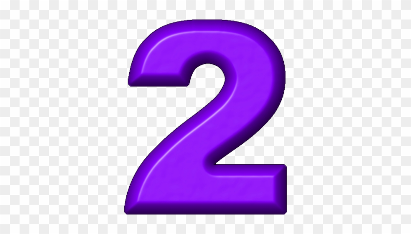 Purple Clipart Number 2 - Number 2 Clip Art #265766